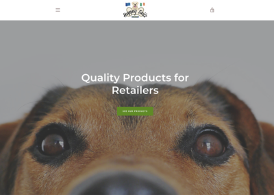Happy Tails Europe Ecommerce Website with Shopify